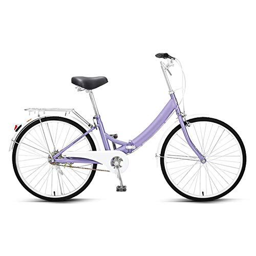 haozai Folding Bicycle,Height Adjustable Handlebar And Seat,Aluminum Alloy Handlebar,Low-span Frame,24 Inch Bikes For Adults