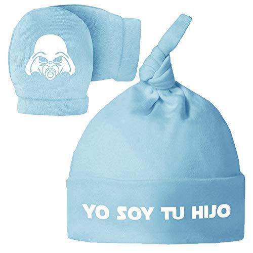 ClickInk Pack Gorro Manoplas recién Nacido. Yo Soy