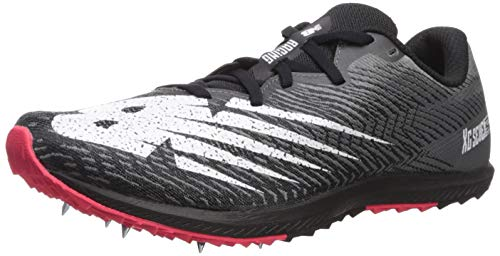 New Balance Men's Cross Country Seven V2 Spikeless Running Shoe, Black/White, 9.5 W US