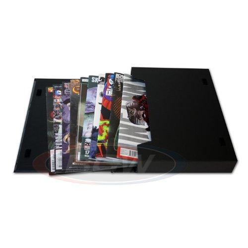 (1) Edad corriente BCW Comic Book Stor-Folio Cartera de almacenamiento de caja con tapa Art