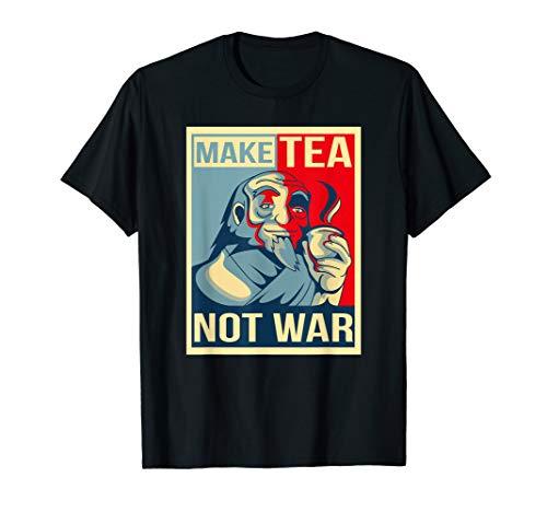 Make Tea Not War. Tealover Japanese Buddha Herbal Peace T-Shirt
