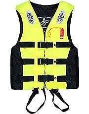 [inotenka] ライフジャケット フローティングベスト 救命胴衣 呼び子付け 子供用 大人用 男女兼用 反射帯付き S-4L …