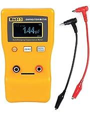 Akozon Medidor de capacitancia de rango automático alta precision, Lectura de 5 dígitos 1 Pric Valor alto 0.01pF a 470mF (470000uF)