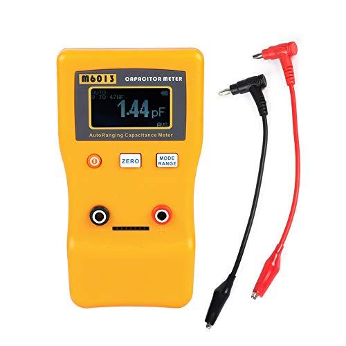 Kondensator Meter, M6013 Kapazitätsmesser LCD Hochpräzise Kondensator-messgerät Professionelle Kapazität Widerstandsmessgerät für DIY Benutzer und Professionelle Ingenieure
