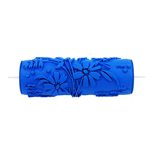 joyMerit 5 Zoll Putz Strukturwalze Strukturrolle Farbrolle Malerrolle Blau - # 5