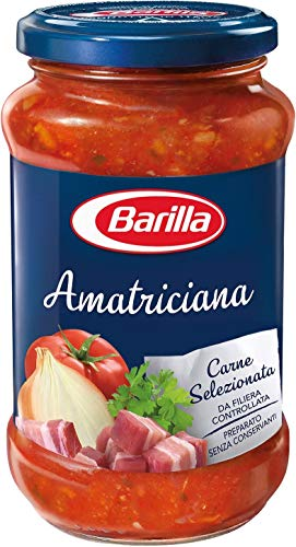 6x Barilla Amatriciana Nudel sauce mit Tomaten Speck und Chili 400g aus italien