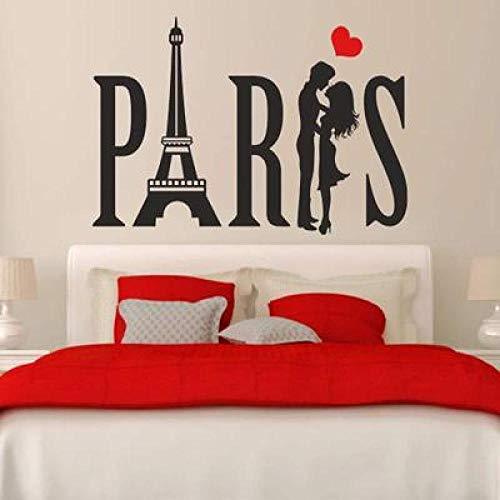 JXLLCD Muursticker Creative Parijs Romantic Love Encounter Muursticker Muursticker Slaapkamer Decoratie Wall Sticker afneembaar 57 x 70 cm
