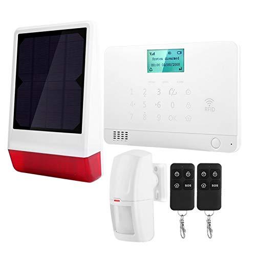 FOLOSAFENAR Alarma antirrobo única de la Alarma de Seguridad de la función de pulsación del teléfono para la(European Standard (110-240V))