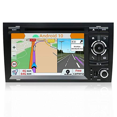YUNTX PX6 Android 10 Autoradio Passt für Audi A4/S4/RS4/Seat Exeo - [4G + 64G] - KOSTENLOSE Rückfahrkamera und Canbus - GPS 2 Din - Unterstützung von DAB + / GPS / 4G/WiFi Bluetooth/Mirrorlink/Carplay