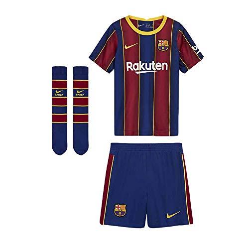 Nike Kinder FCB LK NK BRT KIT HM Football Set, deep royal Blue/(Varsity Maize) (Full Sponsor), L