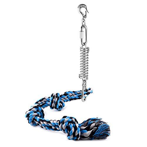 Spring Pole Dog Rope Toys - Kauspielzeug Hund Spring Pole Hund Tauziehen Spielzeug Muscle Builder für Hunde