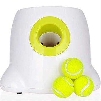 Chiens avec jouets, jeu de lancer pour chien avec 1 balle de tennis Iq Entraînement interactif, lanceur automatique de tennis pour chiot, machine de récompense alimentaire.