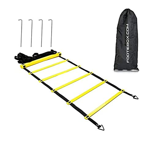 Footiebox - Agility Ladder Speed Ladder 6M 12-Rung for Kids Adults Football Speed Training