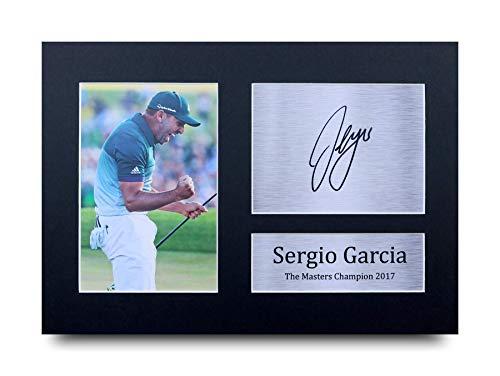 HWC Trading Sergio Garcia A4 Ungerahmt Signiert Gedruckt Autogramme Bild Druck-Fotoanzeige Geschenk Für Golf-Fans