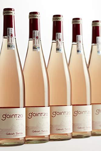 Gaintza Txakolina Roses, vendimia 2019, caja de 6 botellas. Denominación de origen Getariako Txakolina, Txakolí de Getaria, vino rosado