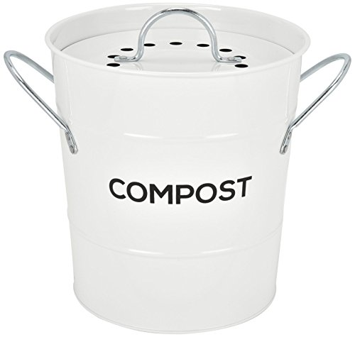 Find Cheap Spigo Indoor Kitchen Compost BIN, Great for Food Scraps, Includes Charcoal Filter for Odo...