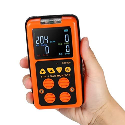 no-branded 4 in 1 Digital LCD-Gas-Detektor O2 H2S CO LEL-Monitor Gas Analyzer Gastester Kohlenmonoxid-Messgerät Air Quality Monitor XXYHYQHJD