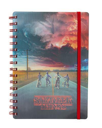 Cuaderno de notas de papel lógico 3D A5 de Stranger Things 2 Mind Flayer