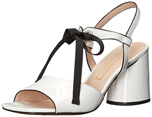 Marc Jacobs Damen Wilde Mary Jane Sandalen mit Absatz, weiß, 37 EU
