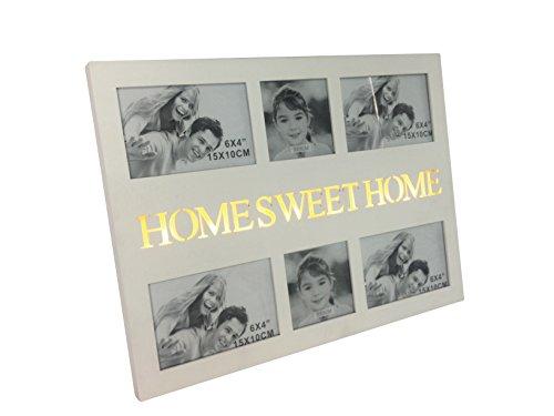 elbmöbel Iluminado Fotos Home Sweet Home Collage Marco de Fotos Color Blanco