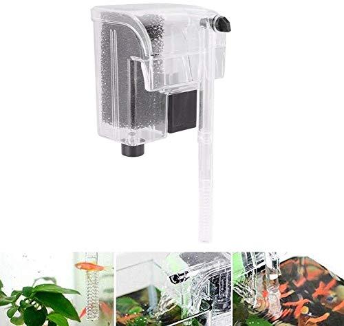 Waterfilter voor aquarium, om op te hangen, externe watervalfilter, ophanging, zuurstofpomp, bevestiging aan de muur (#1)