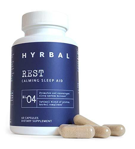 Hyrbal Rest - Extra Strength Sleep Aid for Adults - Natural Sleep Aid with Melatonin, L Tryptophan, Ashwagandha and Valerian - Extra Strength Natural Nighttime Formula