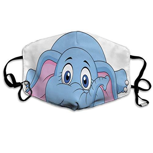 YYTT8 Gesichtsbedeckung Mundschutz Süße Baby-Elefantenfigur Kinder Kinder Spielzimmer Mädchen Jungen Kunst-Comic-Druck