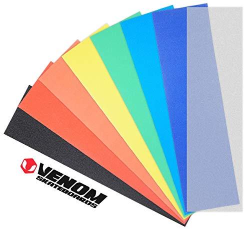 Venom Skateboard-Griffband, perforiert, 22,9 x 83,8 cm, Farben, gelb