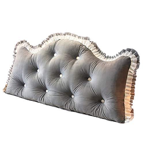 XYJYJY Großes gepolstertes Kopfteil mit gefüllter Rückenlehne Das große Schlafzimmer mit Rückenlehne, abnehmbare und waschbare Kissen Weiche Tatami-Doppelkissen mit großer großer Rückenlehne