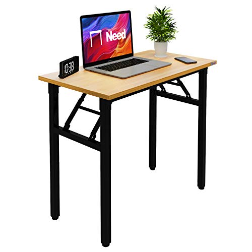 """Need Small Desk 31 1/2"""" No Assembly Foldable Writing Table,Sturdy and Heavy Duty Folding Computer Desks for Small Space.Perfect Addition to Home Office/Dormitory AC5BB-P2(8040)"""