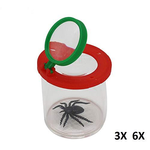 SUZHENA Herramienta Lupa de insectos Errores Lupa Araña cilíndrica Visor de juguetes educativos 3X 6X Niños, 6x, 45 mm