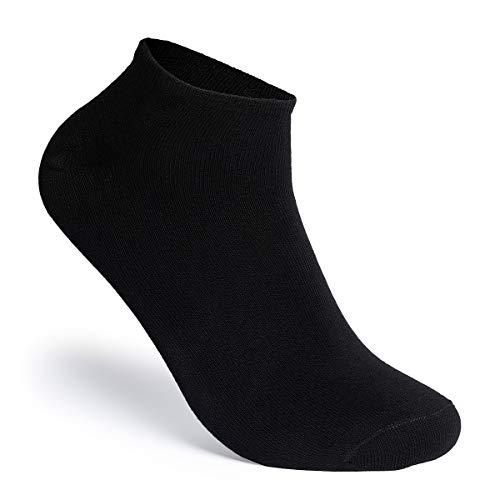 MERISH 10er Sneaker Socken Herren & Damen Schwarz Weiß Sneakersocken Unisex (47-50, Schwarz)
