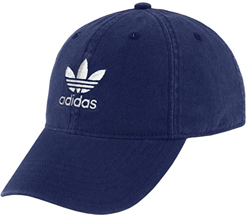 adidas Originals Women's Relaxed Fit Adjustable Strapback Cap 2020, Collegiate Navy/White, One Size