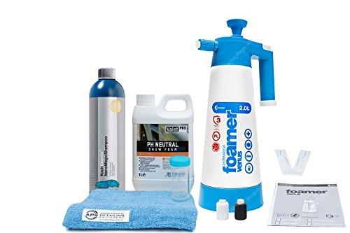 Kwazar Venus Super Foamer V3 + Valet Pro Snow Foam 1L + KC NanoMagic Shampoo 750ml + Zubehör