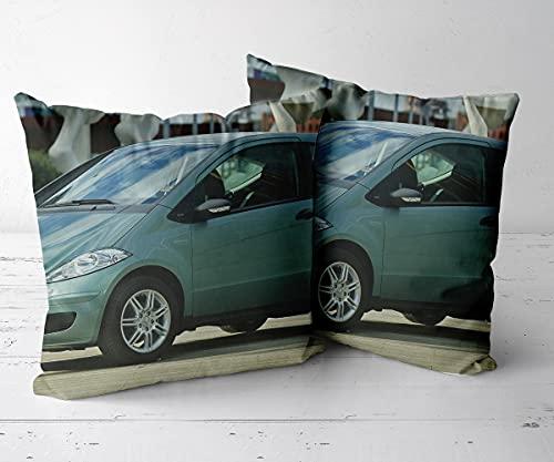Funda de Cojín Fundas Fundas de CojinesDecorativa HogarJuego de 2 piezas-16 x16-Funda de cojín, Adecuada para sofá, Ropa de Cama, automóvil, Interior y Exterior.-Mercedes Benz A150 2