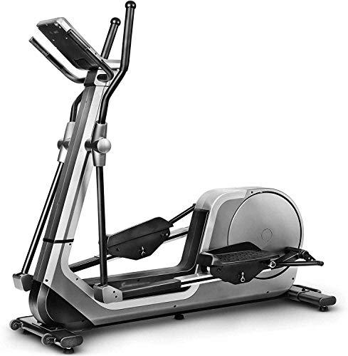Máquina de ejercicio elíptica 12 tipos de programas de formación y cruz de fitness entrenador bicicleta elíptica modo de HRC,Silver