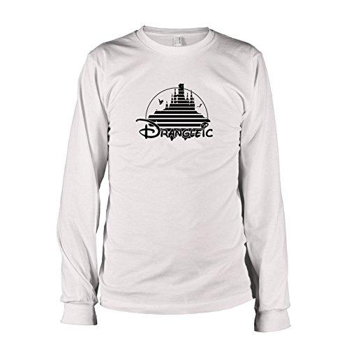 Texlab Drangleic-Langarm Camiseta, Hombre, Blanco, XX-Large