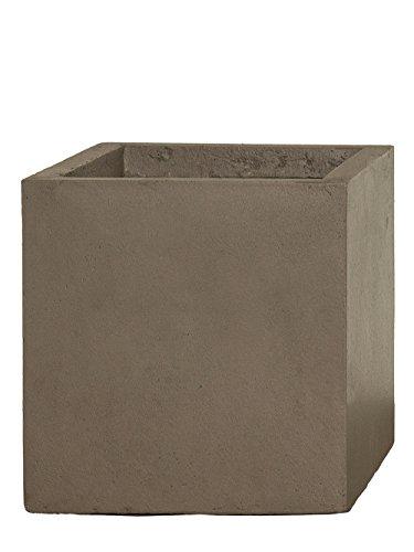 Pflanzwerk® Maceta Cube Chocolate 28x28x28cm *Resistente a Las heladas* *Protección UV* *Calidad Europeo*