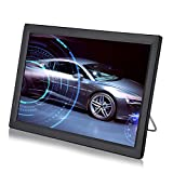 Televisión LCD Portátil de 14 Pulgadas, TV Analógica con TV 1080P HD con Baterías Recargables de 1800 mah y Antena para Habitación, Cocina, Caravana,Coche,etc