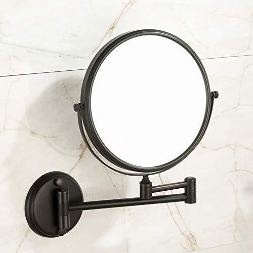 KMYX Montado en la Pared del baño de Maquillaje Espejo de Doble Cara Belleza Espejo Espejo telescópico WC WC Mesa de Aumento Vestir Pared Espejo telescópico