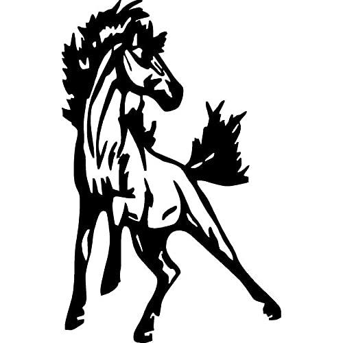 Bel adesivi 10.5 cm X 16,5 cm divertente stile decorativo styling in esecuzione cavallo in vinile adesivi auto in vinile e decalcomania S6-2794 .Autoadesivo per auto (Color : BLACK)