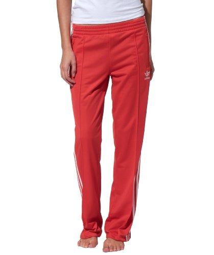 adidas Originals Firebird TP Track Pants Damen Trainingshose Sporthose Rot Weiß, Farbe:Rot, Größe:38