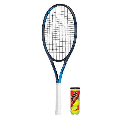 """HEAD Ti. Raqueta de Tenis Instinct Comp Graphite con Funda Protectora y 3 Pelotas de Tenis (Disponible en tamaños de Agarre 1-4) (L2 (4 1/4""""))"""