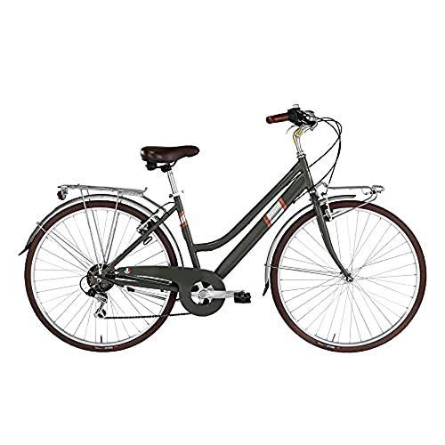 "Alpina Bike Roxy, Bicicletta Trekking 6v Donna, Verde Canna, 28"""