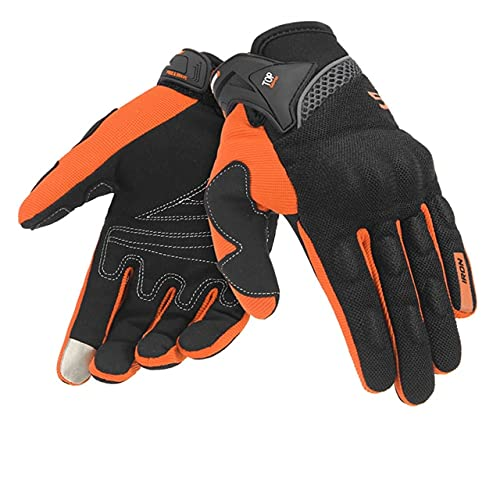Summer Motorcycle Gloves Breathable Gant Moto Mesh Men Full Finger Moto Gloves Touch Screen Guantes Motorbike Riding Gloves-a61-M