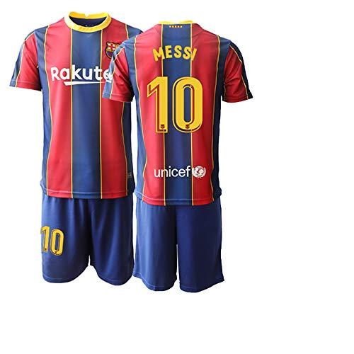 POHH 20/21 Bambino Messi 10# Magliette da Calcio Abbigliamento Sportivo a Manica Corta da Esterno (22)