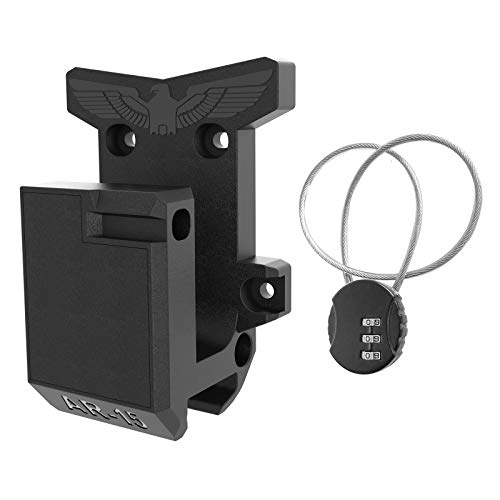 AR15 Wall Mount, Gun Rack with Cable Lock Withstand 300Lbs of Tension Adopt Solid PA Material& Frosting Treatment Display Storage Organization System Unique Low Profile Design