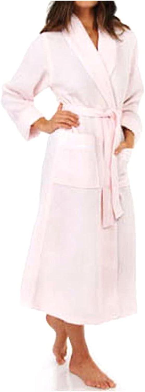 KayAnna Women's Waffle Shawl Collar Spa Robe S01156