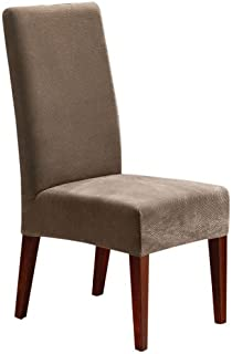 SureFit Stretch Pique - Shorty Dining Room Chair Slipcover - Taupe (SF36848)