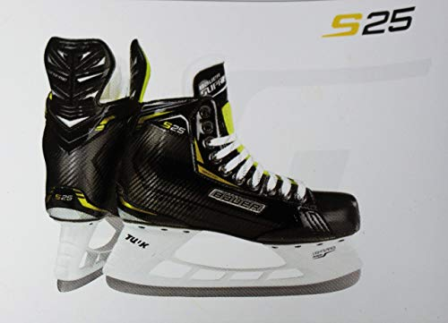 Bauer Supreme S25 Senior Ice Hockey Skates - Tuuk Stainless Steel Blades, Heat Moldable (Size 6.0)